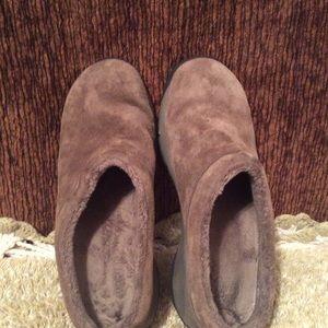 Merrell Shoes - Merrell Brown Suede Women's Mules Sz 7.5